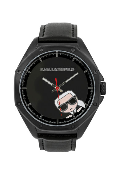 Karl Lagerfeld Ceas cu o curea din piele Barbati