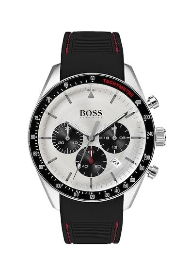 HUGO BOSS Ceas cronograf cu o curea de silicon Barbati
