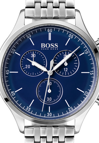 HUGO BOSS Ceas cronograf cu bratara metalica Barbati