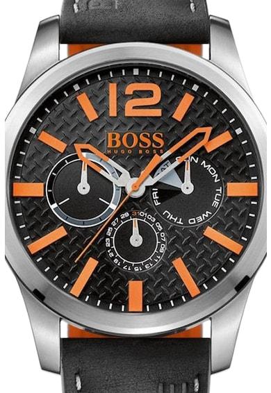Hugo Boss Orange Ceas cu o curea de piele cu functii multiple Barbati