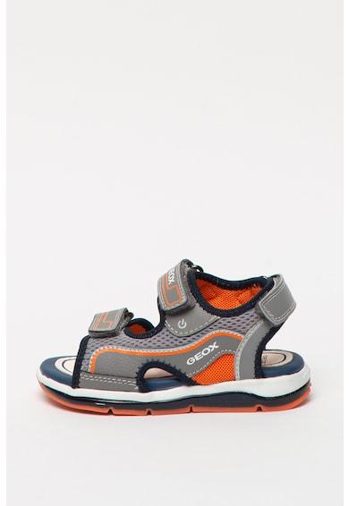 Geox Sandale din piele ecologica cu insertii din plasa Todo Fete