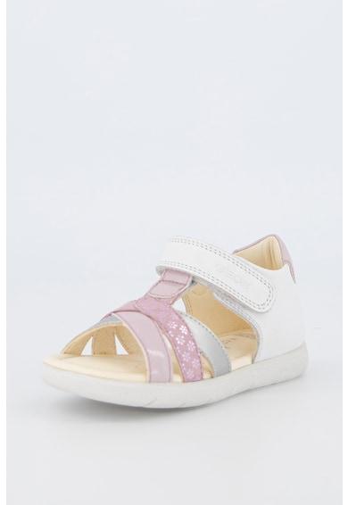 Geox Sandale din piele cu inchidere velcro Alul Fete