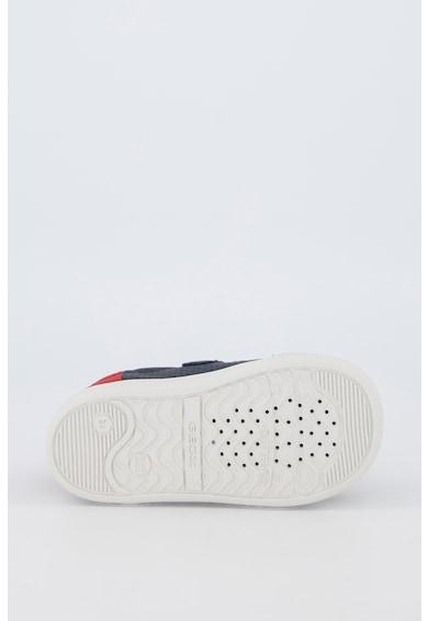 Geox Pantofi sport de piele cu insertii de piele ecologica Djrock Fete