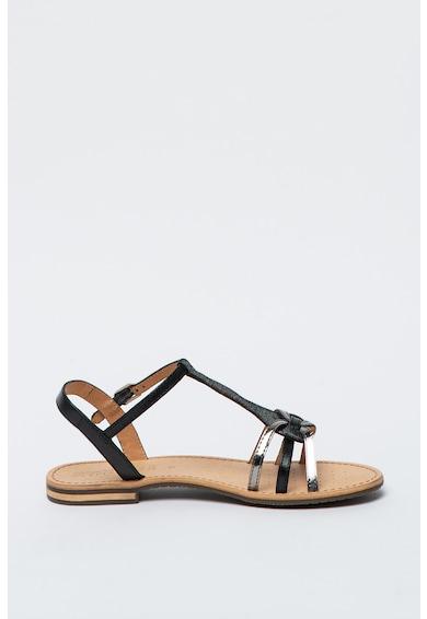 Geox Sandale din piele cu aspect metalizat Sozy Femei