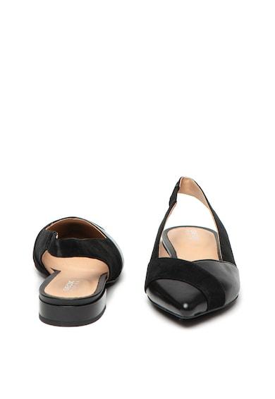 Geox Pantofi din piele si piele intoarsa, cu bareta slingback Charyssa Femei