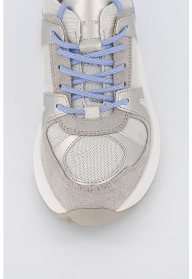 Geox Pantofi sport cu insertii de piele intoarsa Femei