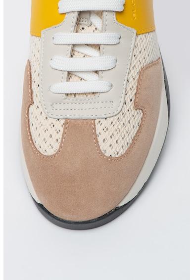 Geox Pantofi sport cu insertii din piele intoarsa Suzie Femei