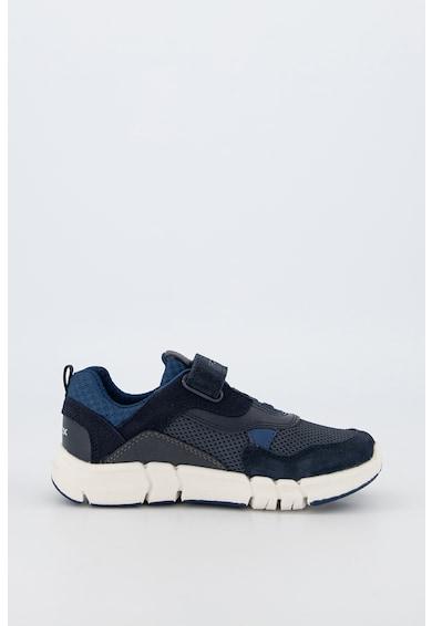 Geox Pantofi sport cu garnituri de piele intoarsa si piele Flexyper Fete