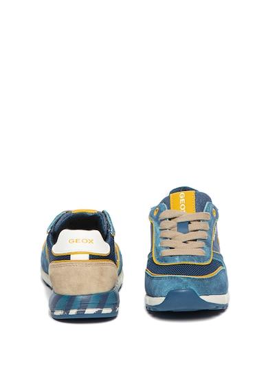 Geox Pantofi sport cu insertii de piele intoarsa Alben Fete
