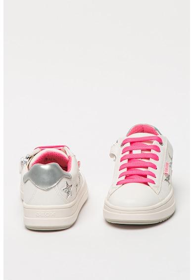 Geox Pantofi sport de piele ecologica cu detalii stralucitoare Rebecca Fete