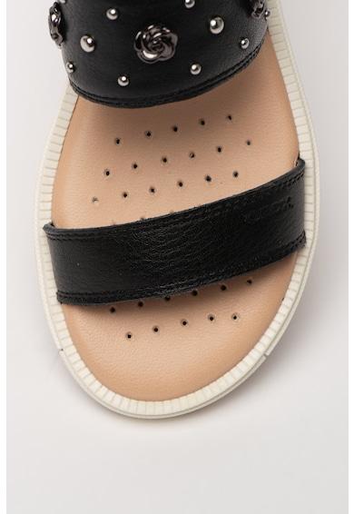 Geox Sandale de piele cu aplicatii metalice Rebecca Fete