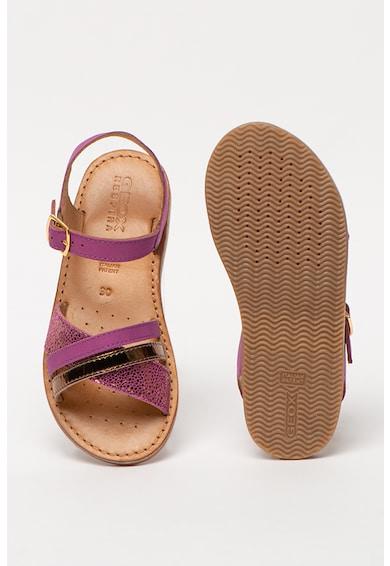 Geox Sandale de piele cu detalii metalizate Eolie Fete