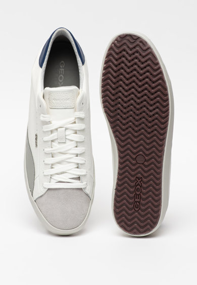 Geox Кожени спортни обувки Warley с текстил Мъже