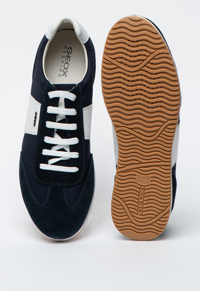 Geox Pantofi sport cu garnituri de piele si piele intoarsa Arsien Barbati