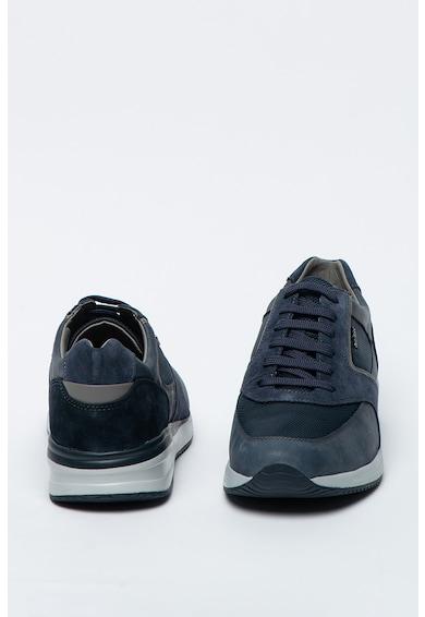 Geox Pantofi sport cu garnituri de piele intoarsa si piele Dennie Barbati
