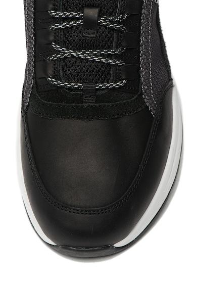 Geox Текстилни обувки Rockson с кожа Мъже