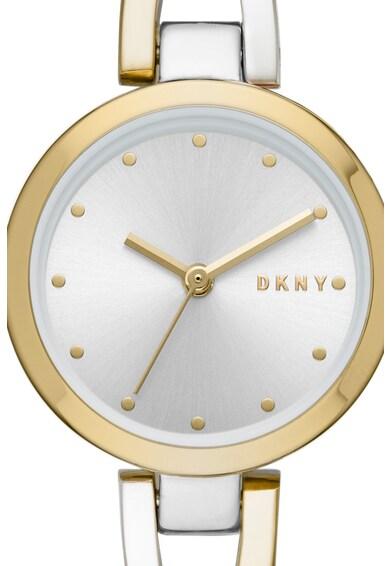 DKNY Ceas rotund cu doua nuante Femei