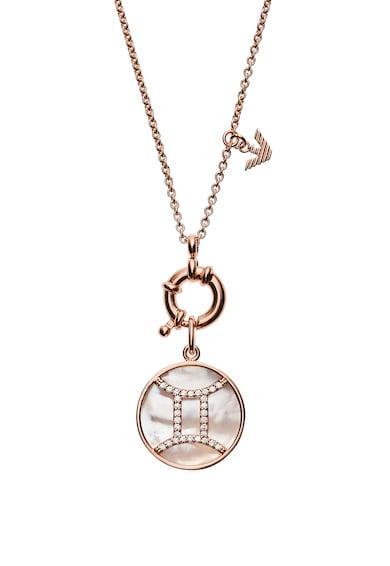 Emporio Armani Colier de argint veritabil cu pandantiv cu simbol gemeni Femei