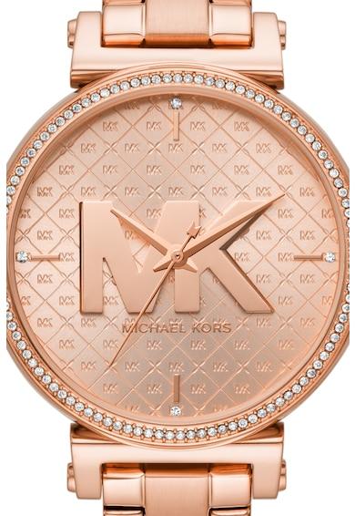 Michael Kors Ceas de otel inoxidabil, cu logo pe cadran Femei