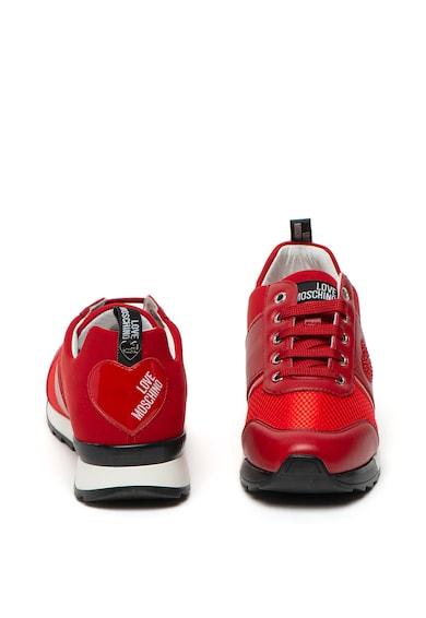 Love Moschino Pantofi sport cu aplicatii cu strasuri in forma de inima Femei