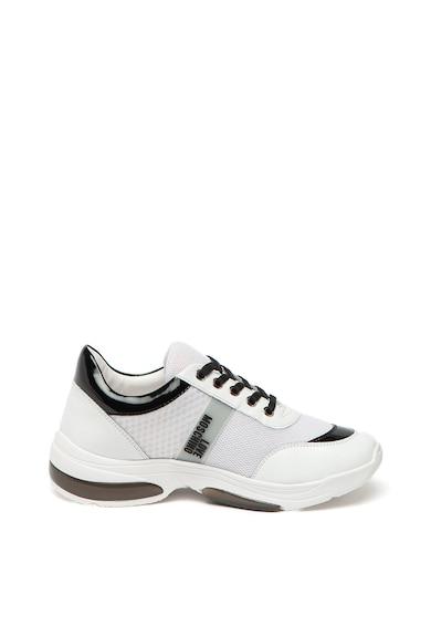 Love Moschino Pantofi sport de piele, cu garnituri de plasa Femei