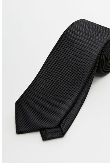 Mango Cravata din satin cu aspect texturat Barbati