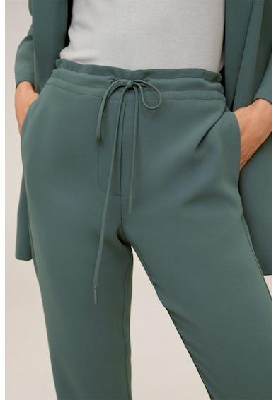 Mango Pantaloni drepti cu snur pentru ajustare Semiflu Femei