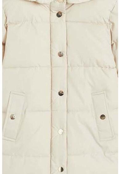 Mango Geaca matlasata cu garnituri de blana shearling sintetica Crayon Fete