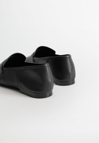 VIOLETA BY MANGO Pantofi loafer de piele Gant Femei