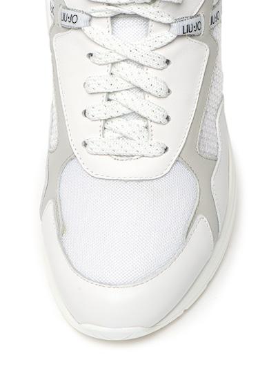Liu Jo Pantofi sport din piele cu garnituri din piele Karlie Femei