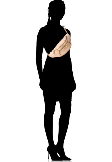 Michael Kors Borseta de piele cu aplicatii logo Mott Femei