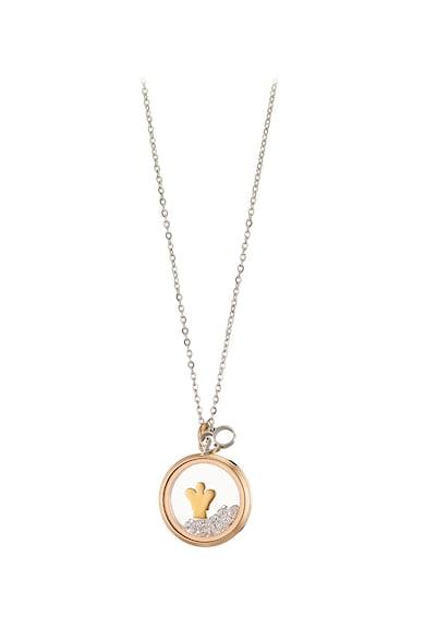Loisir by Oxette Colier placat cu aur rose 18K si pandantiv rotund Femei