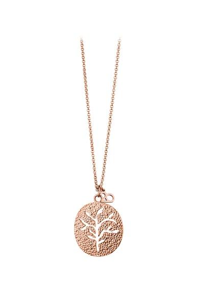 OXETTE Colier placat cu aur rose 18K si pandantiv Femei