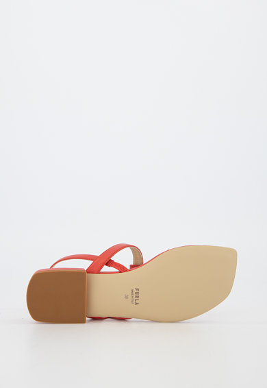 Furla Sandale de piele cu bareta separatoare Femei