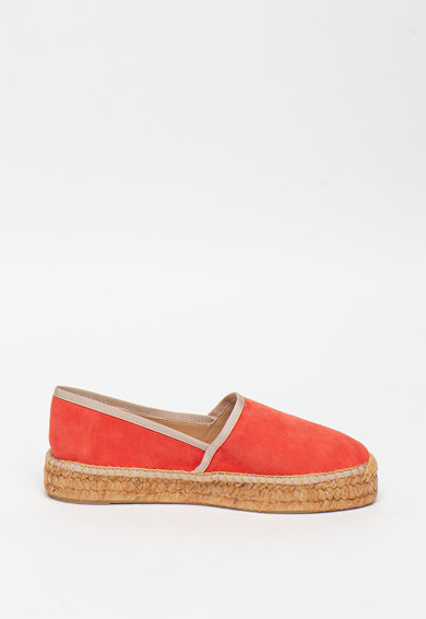 Furla Easy nyersbőr espadrille cipő jutarészletekkel női