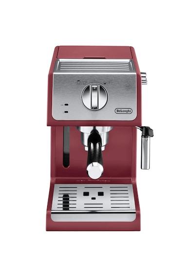 DeLonghi Espressor manual  Active line ECP33.21.R, 1100 W, 1.1 L, 15 bar, Sistem Cappuccino, Rosu Femei