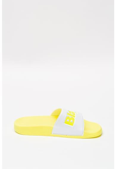 Blauer Papuci de cauciuc cu logo stantat Femei