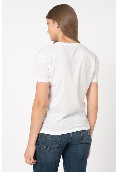 Pepe Jeans London Tricou cu imprimeu logo Cameo Femei