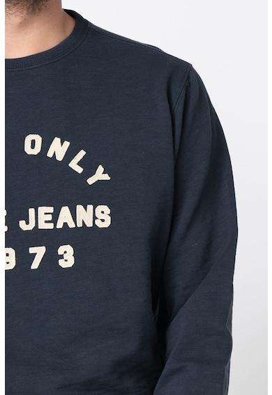 Pepe Jeans London Bluza sport regular fit cu aplicatie logo Arnold Barbati