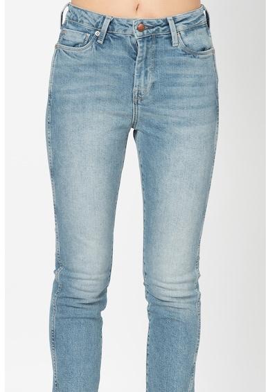 Pepe Jeans London Blugi crop slim-fit cu talie inalta Dion Femei