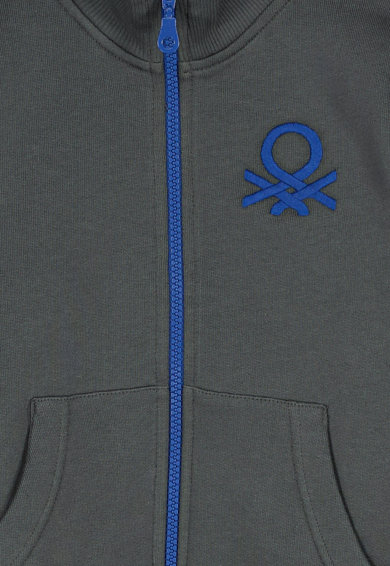 United Colors of Benetton Bluza sport cu fermoar si buzunare Baieti