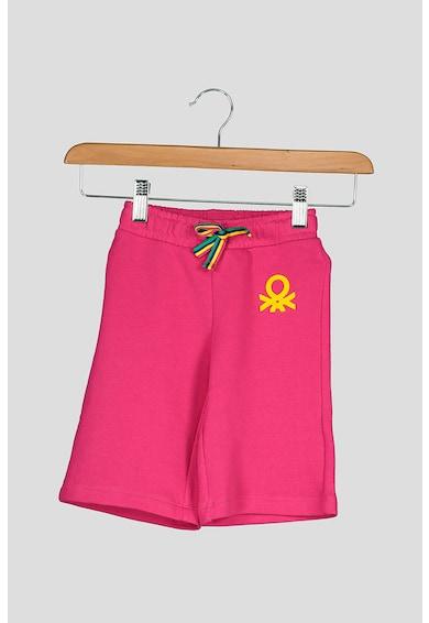 United Colors of Benetton Pantaloni sport cu aplicatie logo Fete