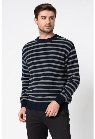 Pepe Jeans London Pulover din amestec de lana, cu model in dungi David Barbati
