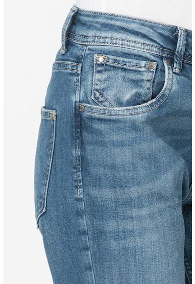 Pepe Jeans London Blugi mom fit cu croiala conica Violet Femei