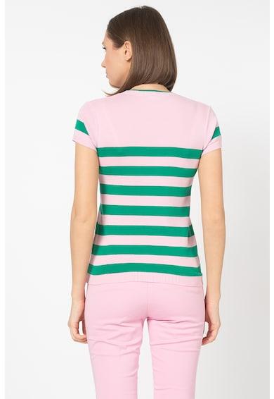 United Colors of Benetton Pulover cu maneci scurte si model in dungi Femei