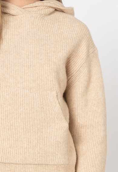Pepe Jeans London Pulover din amestec de lana cu gluga Yena Femei