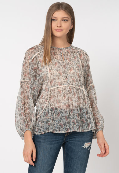 Pepe Jeans London Bluza lejera cu imprimeu floral Loren Femei