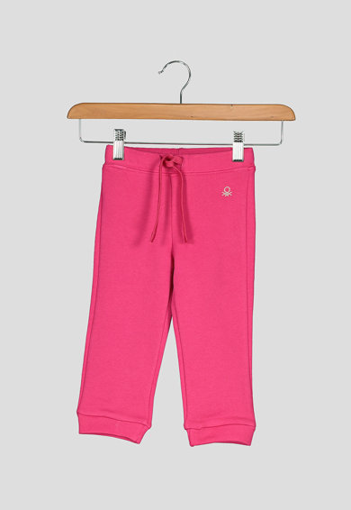 United Colors of Benetton Pantaloni sport cu logo discret Fete