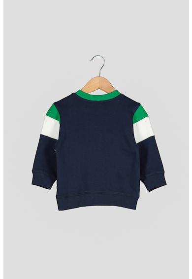 United Colors of Benetton Bluza sport cu insertii din material teddy Baieti