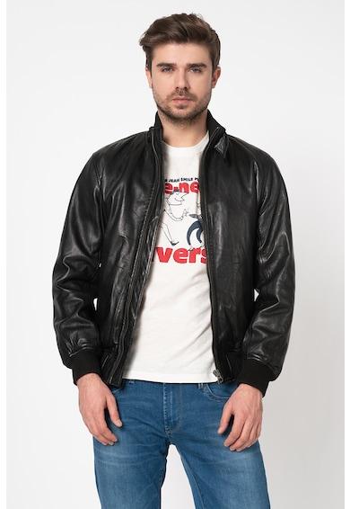 Pepe Jeans London Jacheta biker de piele Freddie Barbati
